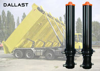 3 4 5 Stage Hydraulic Cylinder , Single Acting Telescopic Cylinder Lifting Dumper Tipper Trailer